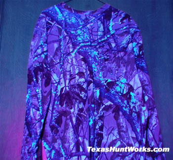 Camo Shirt With Blacklight 2 Washes